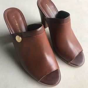 Tommy Hilfiger Heeled Sandals slides Leather